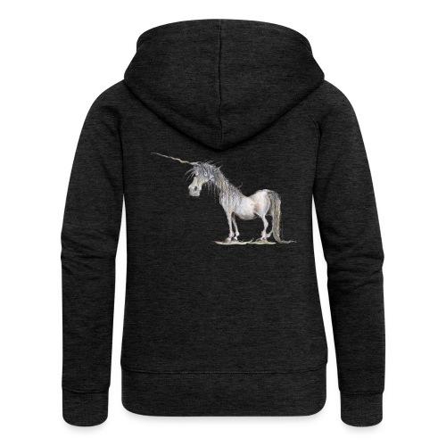 Einhorn t-shirt, Das allerletzte Einhorn - Frauen Premium Kapuzenjacke