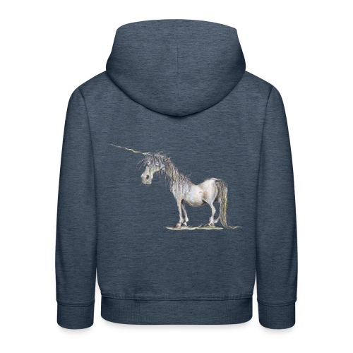 Einhorn t-shirt, Das allerletzte Einhorn - Kinder Premium Hoodie
