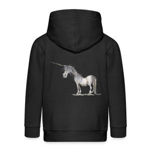 Einhorn t-shirt, Das allerletzte Einhorn - Kinder Premium Kapuzenjacke