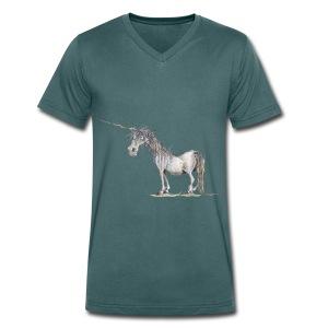 Einhorn t-shirt, Das allerletzte Einhorn - Männer Bio-T-Shirt mit V-Ausschnitt von Stanley & Stella