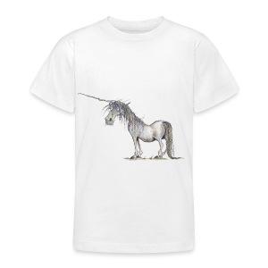 Einhorn t-shirt, Das allerletzte Einhorn - Teenager T-Shirt