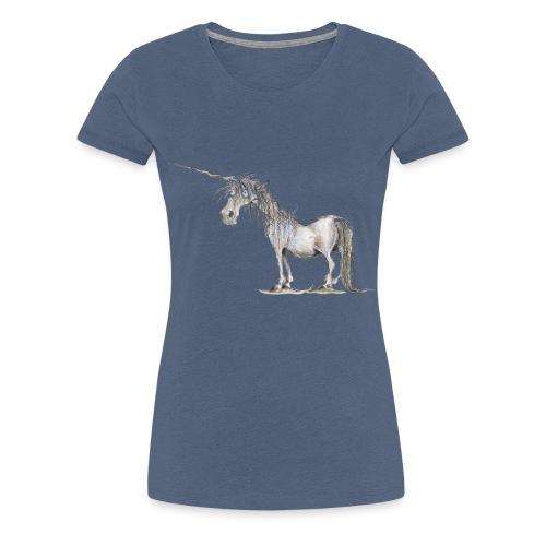 Einhorn t-shirt, Das allerletzte Einhorn - Frauen Premium T-Shirt