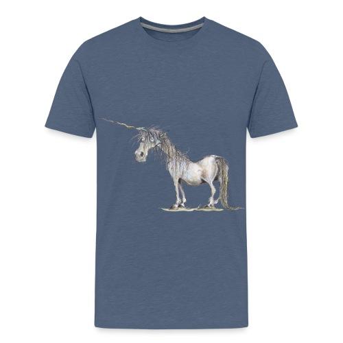 Einhorn t-shirt, Das allerletzte Einhorn - Teenager Premium T-Shirt