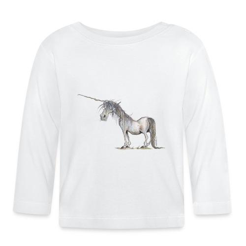 Einhorn t-shirt, Das allerletzte Einhorn - Baby Langarmshirt