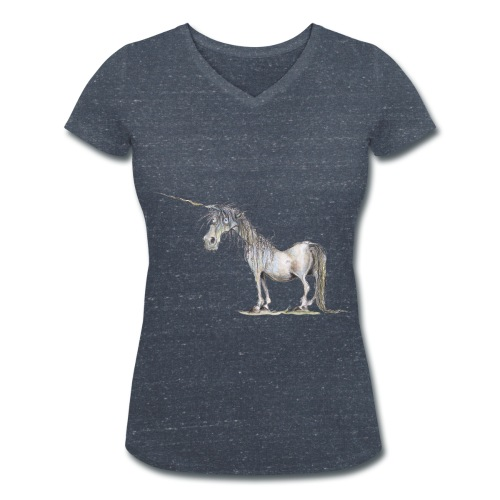 Einhorn t-shirt, Das allerletzte Einhorn - Frauen Bio-T-Shirt mit V-Ausschnitt von Stanley & Stella