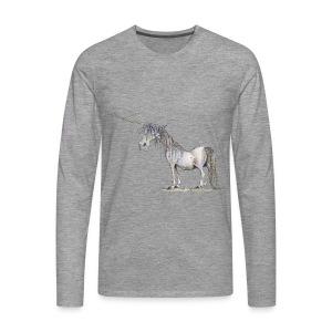 Einhorn t-shirt, Das allerletzte Einhorn - Männer Premium Langarmshirt