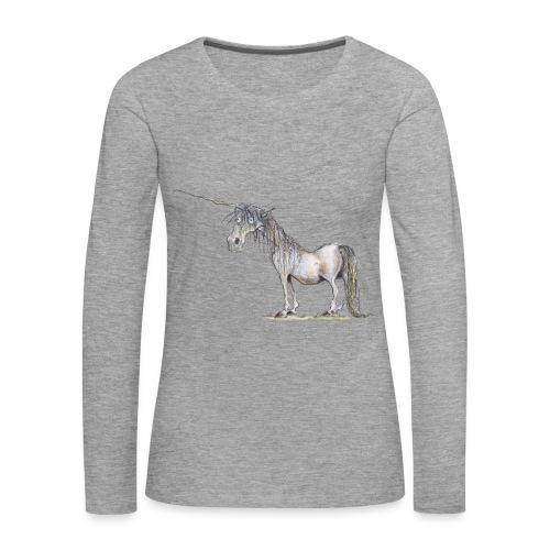 Einhorn t-shirt, Das allerletzte Einhorn - Frauen Premium Langarmshirt