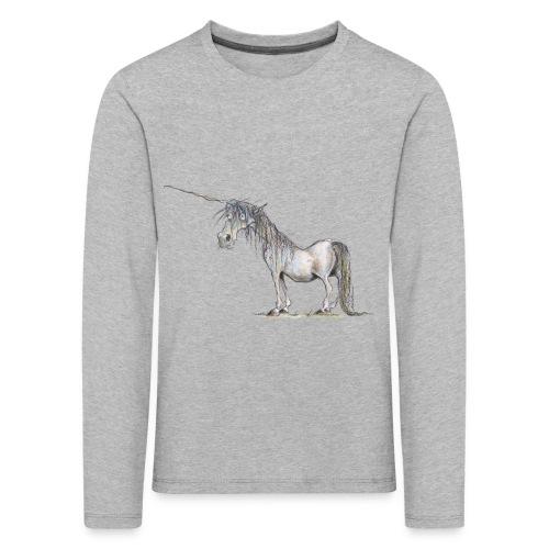 Einhorn t-shirt, Das allerletzte Einhorn - Kinder Premium Langarmshirt