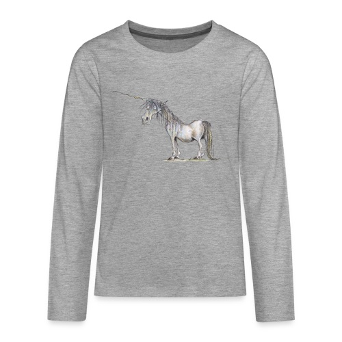 Einhorn t-shirt, Das allerletzte Einhorn - Teenager Premium Langarmshirt