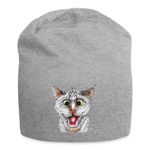 Lustige Katze - T-shirt - Happy Cat - Jersey-Beanie