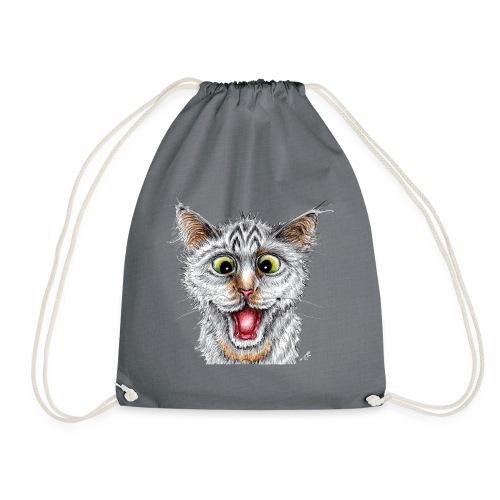 Lustige Katze - T-shirt - Happy Cat - Turnbeutel