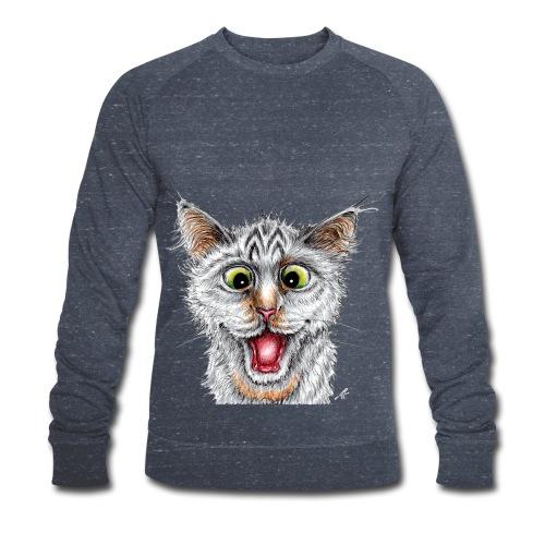 Lustige Katze - T-shirt - Happy Cat - Männer Bio-Sweatshirt von Stanley & Stella