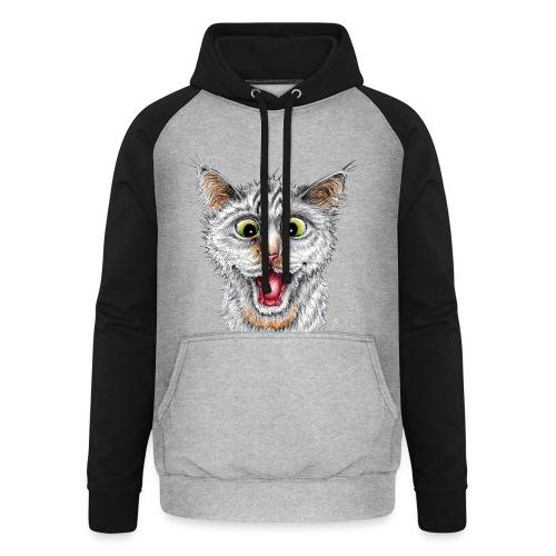 Lustige Katze - T-shirt - Happy Cat - Unisex Baseball Hoodie