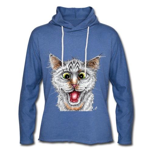 Lustige Katze - T-shirt - Happy Cat - Leichtes Kapuzensweatshirt Unisex