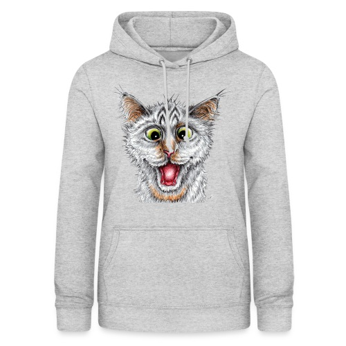 Lustige Katze - T-shirt - Happy Cat - Frauen Hoodie