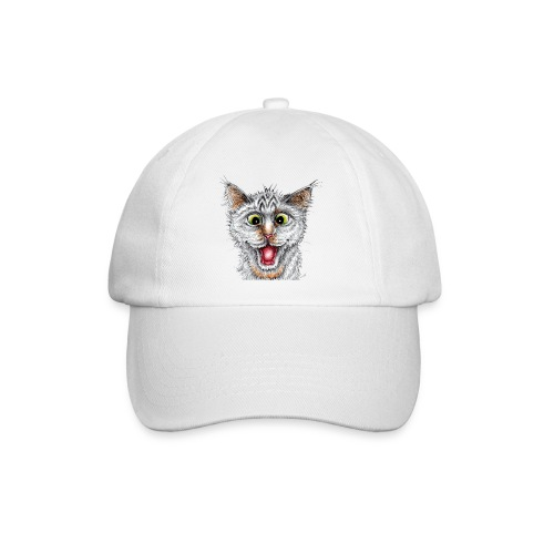 Lustige Katze - T-shirt - Happy Cat - Baseballkappe