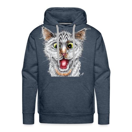 Lustige Katze - T-shirt - Happy Cat - Männer Premium Hoodie