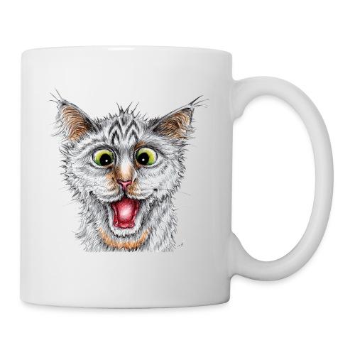 Lustige Katze - T-shirt - Happy Cat - Tasse