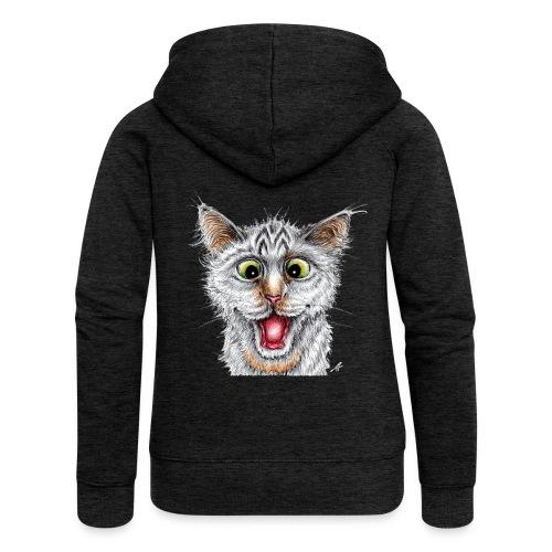 Lustige Katze - T-shirt - Happy Cat - Frauen Premium Kapuzenjacke