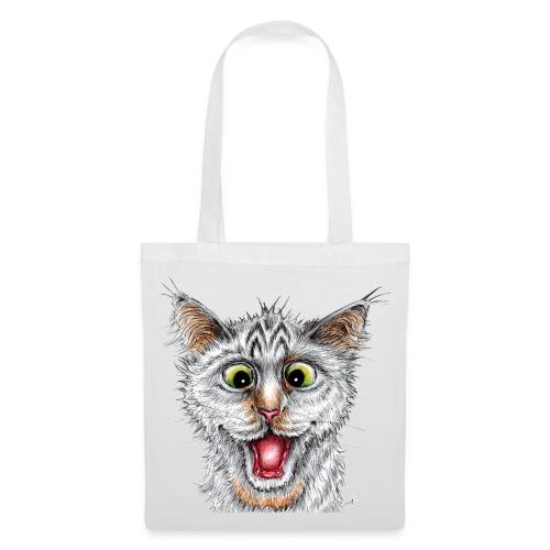 Lustige Katze - T-shirt - Happy Cat - Stoffbeutel