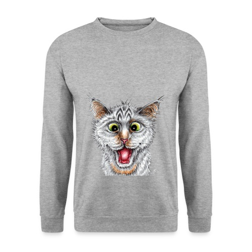 Lustige Katze - T-shirt - Happy Cat - Männer Pullover