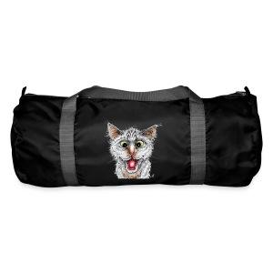 Lustige Katze - T-shirt - Happy Cat - Sporttasche