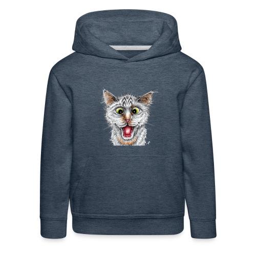 Lustige Katze - T-shirt - Happy Cat - Kinder Premium Hoodie