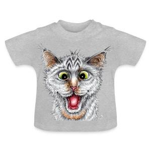 Lustige Katze - T-shirt - Happy Cat - Baby T-Shirt