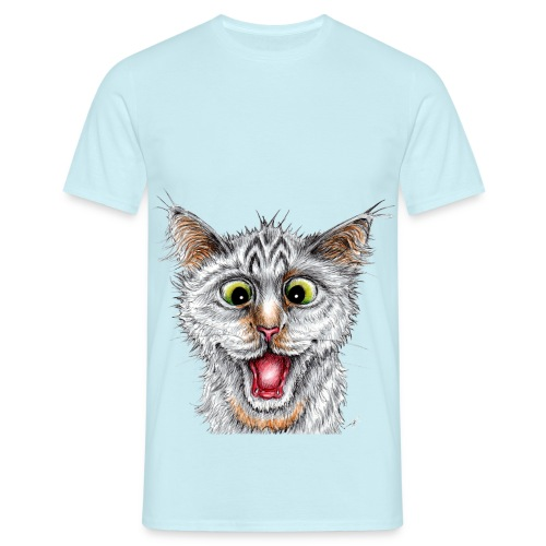Lustige Katze - T-shirt - Happy Cat - Männer T-Shirt