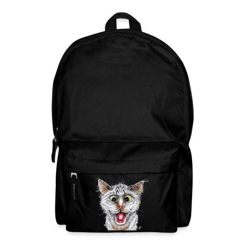 Lustige Katze - T-shirt - Happy Cat - Rucksack