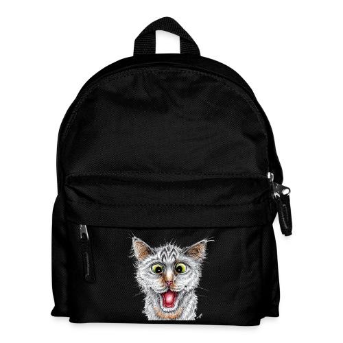 Lustige Katze - T-shirt - Happy Cat - Kinder Rucksack