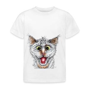 Lustige Katze - T-shirt - Happy Cat - Kinder T-Shirt