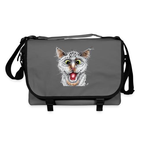 Lustige Katze - T-shirt - Happy Cat - Umhängetasche