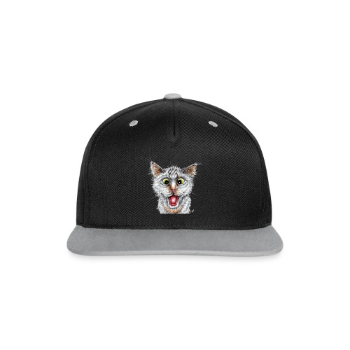 Lustige Katze - T-shirt - Happy Cat - Kontrast Snapback Cap