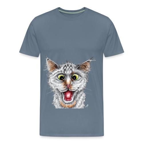 Lustige Katze - T-shirt - Happy Cat - Männer Premium T-Shirt