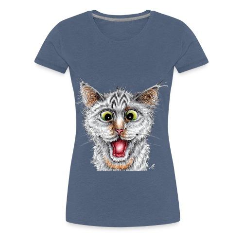 Lustige Katze - T-shirt - Happy Cat - Frauen Premium T-Shirt