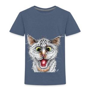 Lustige Katze - T-shirt - Happy Cat - Kinder Premium T-Shirt