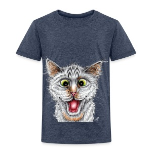 Lustige Katze - T-shirt - Happy Cat - Kinder Premium T-Shirt