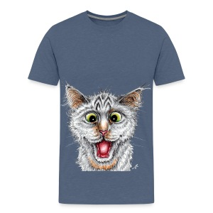 Lustige Katze - T-shirt - Happy Cat - Teenager Premium T-Shirt