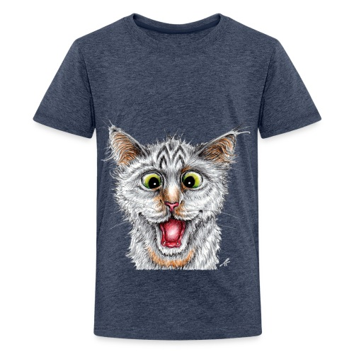 Lustige Katze - T-shirt - Happy Cat - Teenager Premium T-Shirt