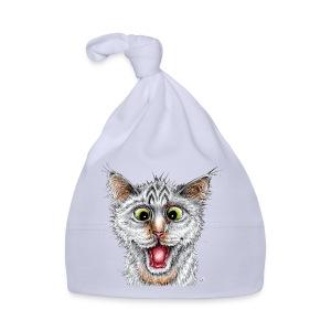 Lustige Katze - T-shirt - Happy Cat - Baby Mütze