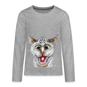 Lustige Katze - T-shirt - Happy Cat - Teenager Premium Langarmshirt
