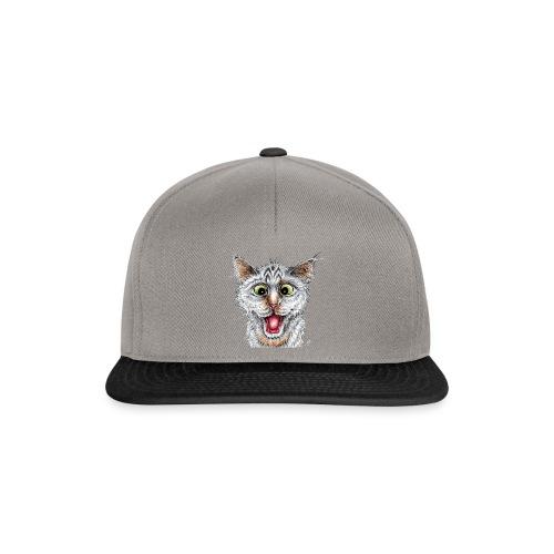 Lustige Katze - T-shirt - Happy Cat - Snapback Cap