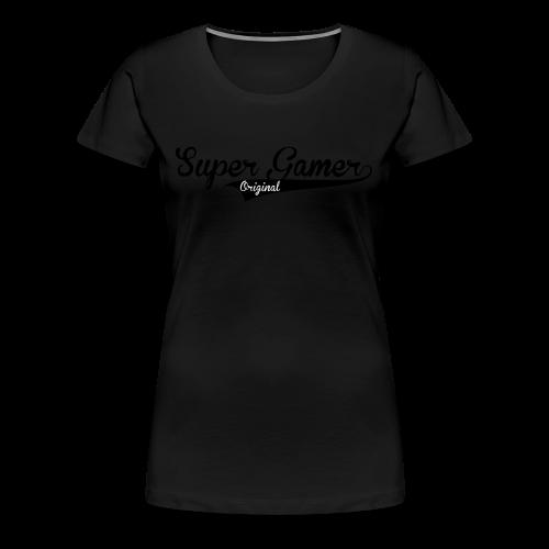 Super Gamer (White) - Women's Premium T-Shirt