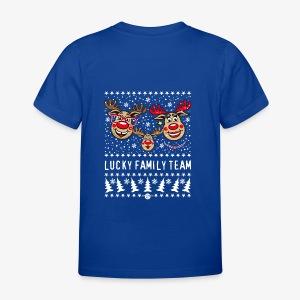 LUCKY FAMILY TEAM Papa Mama 1 Kind Hoodie 93 - Kinder T-Shirt