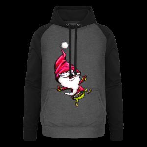 cloth bag santa claus - Unisex Baseball Hoodie