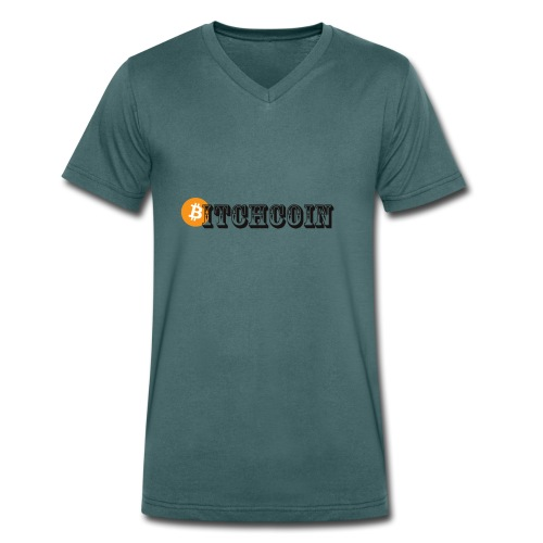 Bitchcoin T-Shirts - Men's Organic V-Neck T-Shirt by Stanley & Stella