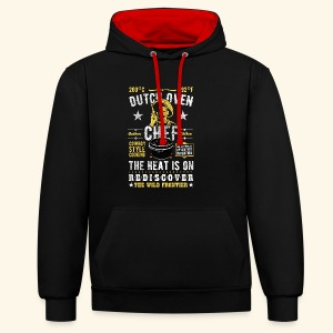 Dutch Oven Chef, Outlaw, distressed - Kontrast-Hoodie