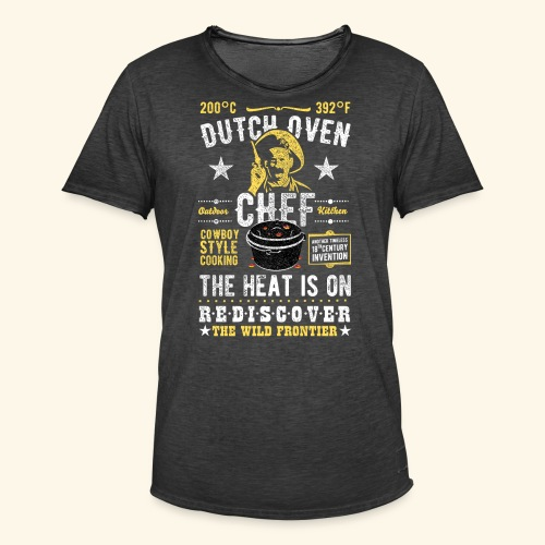 Dutch Oven Chef, Outlaw, distressed - Männer Vintage T-Shirt