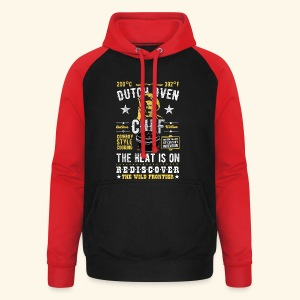 Dutch Oven Chef, Outlaw, distressed - Unisex Baseball Hoodie